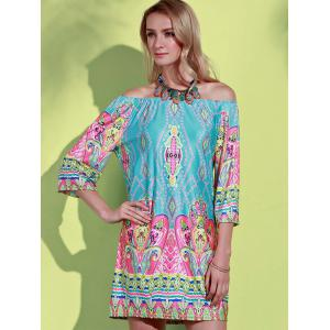 Bohemian Off The Shoulder African Style Print Dress