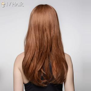Noble Inclined Bang Capless Shaggy Wave Long Real Human Hair Wig For Women -