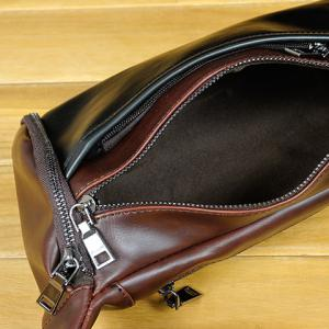Casual Solid Colour and PU Leather Design Messenger Bag For Men -