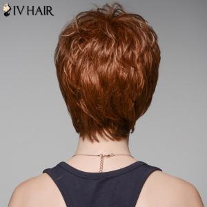 Fluffy Skilful Human Hair Short Side Bang Wig For Women -
