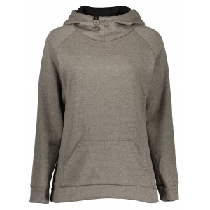 Casual Style Hooded Long Sleeve Front Pocket Design Women's Khaki Hoodie - Khaki - S