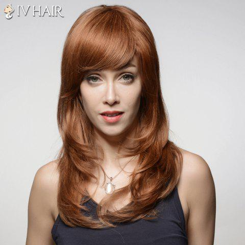 Buy Noble Inclined Bang Capless Shaggy Wave Long Real Human Hair Wig For Women