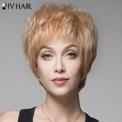 Latest Fluffy Human Hair Short Side Bang Wig For Women