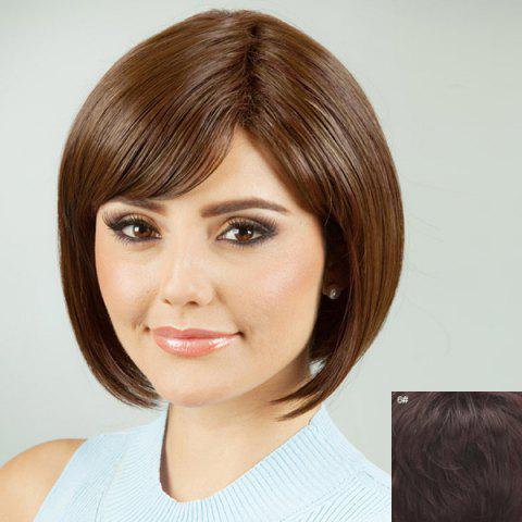 Shops Charming Oblique Bang Bob Style Human Hair Wig For Women