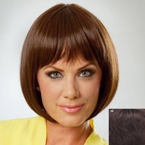 Outfits Charming Full Bang Bob Style Human Hair Wig For Women