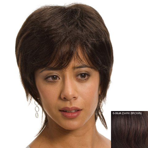 Fashion Charming Fluffy Short Side Bang Human Hair Wig For Women