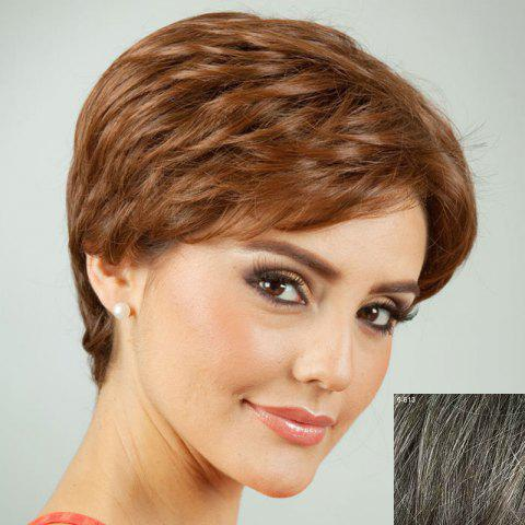 Latest Towheaded Short Side Bang Curly Human Hair Wig For Women