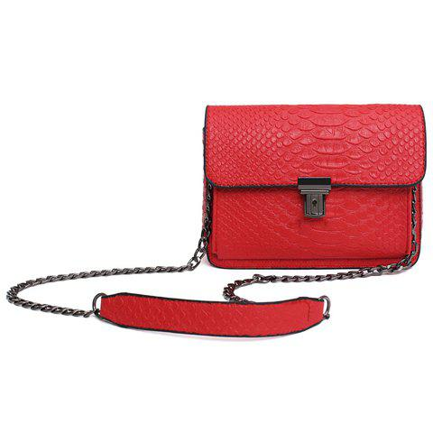 New Vintage Embossing and Push Lock Design Crossbody Bag For Women