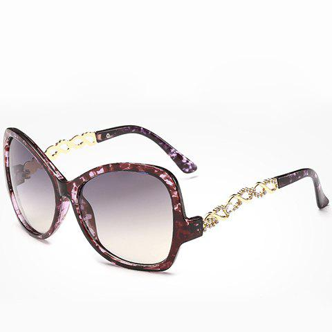 Buy Chic Rhinestone Hollow Chain Shape Decorated Flecky Sunglasses For Women