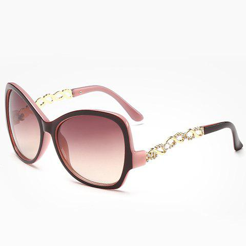 Outfits Chic Rhinestone Hollow Chain Shape Decorated Two Color Sunglasses For Women