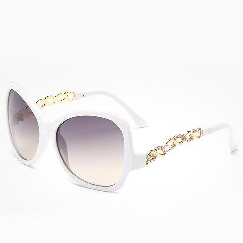Fancy Chic Rhinestone Hollow Chain Shape Embellished Sunglasses For Women