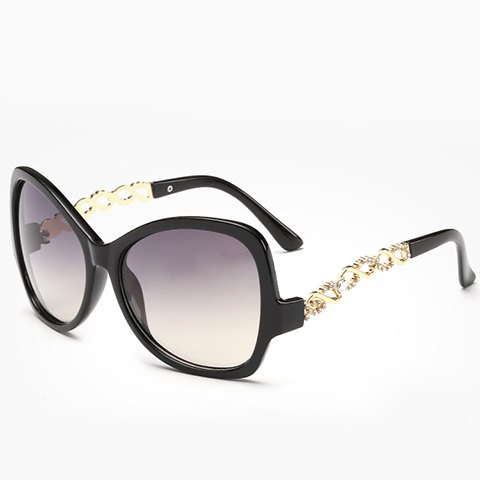 Trendy Chic Rhinestone Hollow Chain Shape Embellished Sunglasses For Women