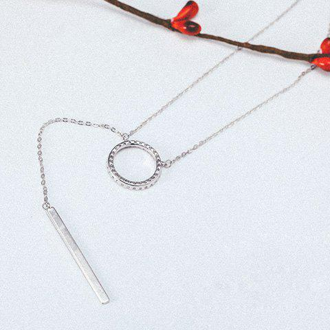 Hot Chic Simple Style Ring Pendant Necklace For Women