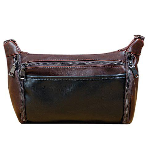 Cheap Casual Solid Colour and PU Leather Design Messenger Bag For Men