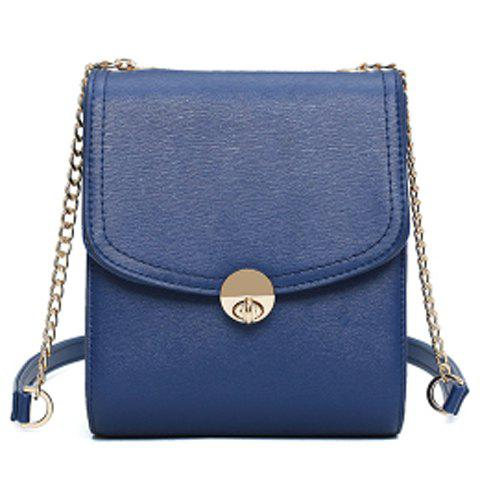 Online Concise Chains and Solid Color Design Crossbody Bag For Women - SAPPHIRE BLUE  Mobile