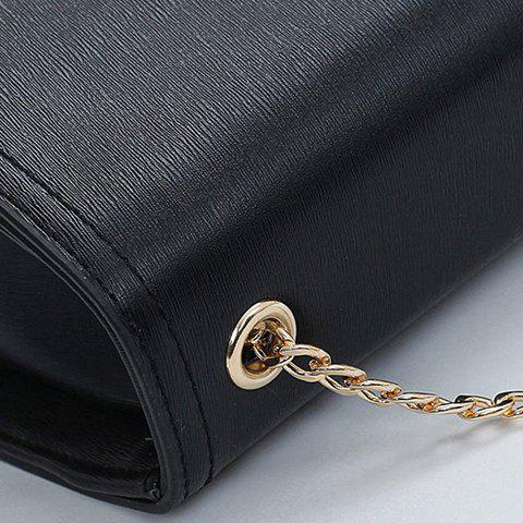 Fancy Concise Chains and Solid Color Design Crossbody Bag For Women - SAPPHIRE BLUE  Mobile