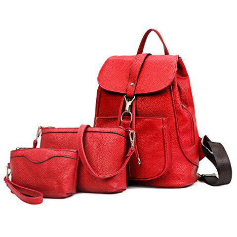 Online Leisure Solid Color and String Design Satchel For Women