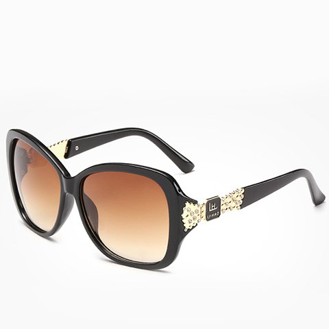 Buy Chic Rhinestone and Letters Metal Embellished Sunglasses For Women