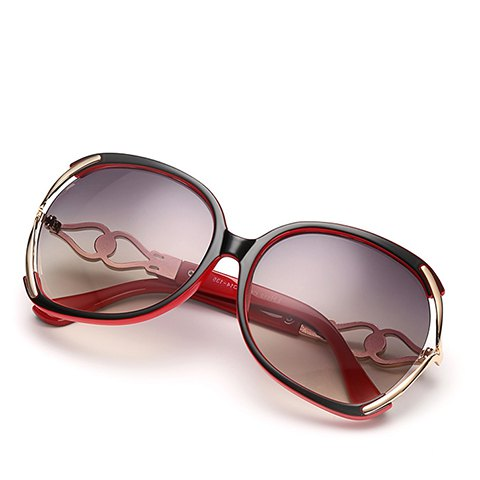 Shops Faux Pearl Inlay Hollow Bow Affordable Polarized Sunglasses - RED WITH BLACK  Mobile
