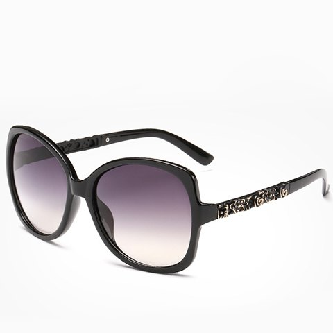 Chic Chic Flower Shape Carve Embellished Sunglasses For Women