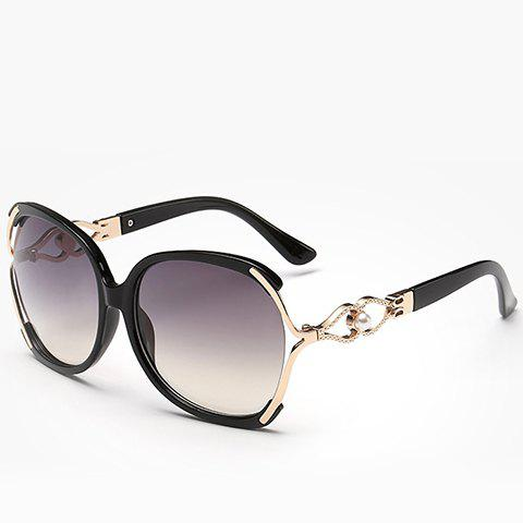 Hot Chic Faux Pearl Inlay Hollow Bow Embellished Sunglasses For Women