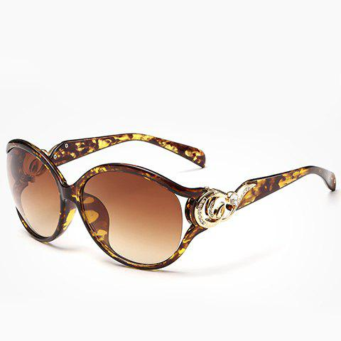 Trendy Chic Rhinestone and Cloud Shape Decorated Flecky Sunglasses For Women YELLOW