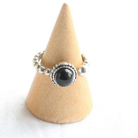 New Vintage Faux Agate Decorated Ring BLACK ONE-SIZE