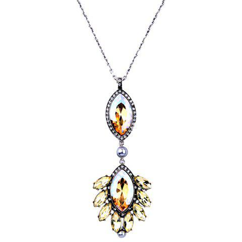 Sale Stunning Rhinestone Faux Crystal Oval Necklace For Women