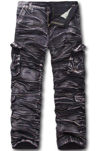Shop Military Style Zipper Fly Multi-Pocket Straight Leg Camo Cargo Pants For Men