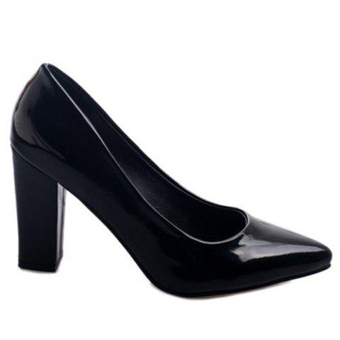 Discount Office Lady Solid Color and Chunky Heel Design Pumps For Women
