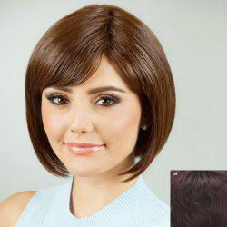 Charming Oblique Bang Bob Style Human Hair Wig For Women -
