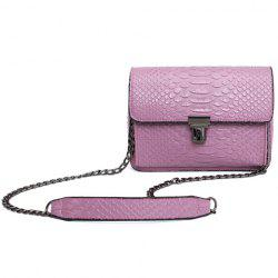 Retro Embossing and Push Lock Design Crossbody Bag For Women -