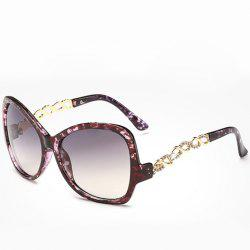 Chic Rhinestone Hollow Chain Shape Decorated Flecky Sunglasses For Women -