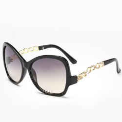 Chic Rhinestone Hollow Chain Shape Embellished Sunglasses For Women -