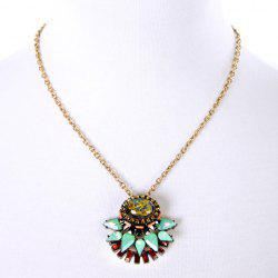 Trendy Faux Crystal Decorated Oval Necklace For Women -