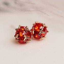 Pair of Trendy Faux Crystal Ball Earrings For Women -