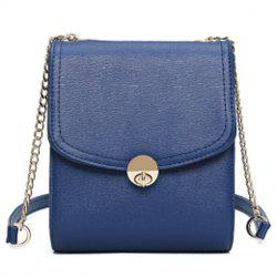 Concise Chains and Solid Color Design Crossbody Bag For Women - SAPPHIRE BLUE