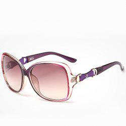 Chic Hollow Metal Embellished Ombre Frame Sunglasses For Women -