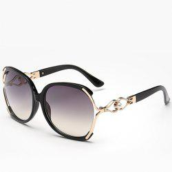 Chic Faux Pearl Inlay Hollow Bow Embellished Sunglasses For Women -