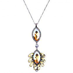 Stunning Rhinestone Faux Crystal Oval Necklace For Women -