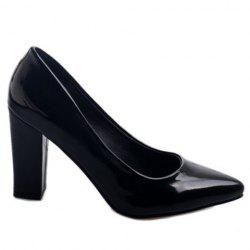 Office Lady Solid Color and Chunky Heel Design Pumps For Women -