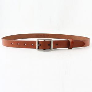 Chic Metal Pin Buckle Simple PU Belt For Women - Light Brown - 39