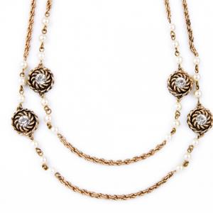Chic Rhinestone Long Style Necklace For Women -