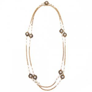 Chic Rhinestone Long Style Necklace For Women - GOLDEN