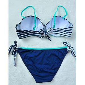 Alluring Striped Spaghetti Strap Women's Bikini Set -