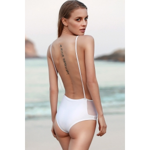 Spaghetti Straps Backless One Piece Swimwear