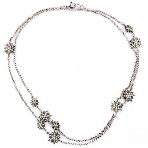 Chic Floral Rhinestone Necklace For Women -