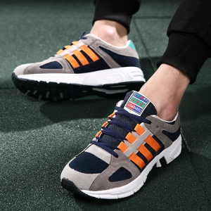 Fashion Color Block and Lace-Up Design Sneakers For Men -