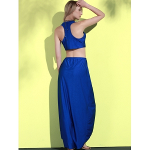 Sexy Round Neck Sleeveless Tank Top + High-Waisted Skirt Women's Twinset -