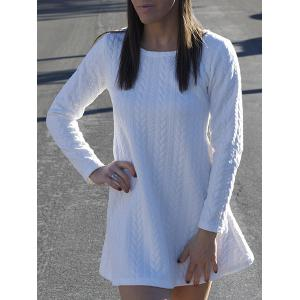 Long Sleeve Mini Skater Sweater Dress